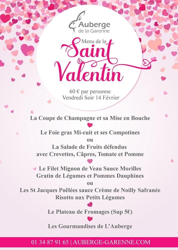 Saint Valentin - Vendredi soir 14 Février