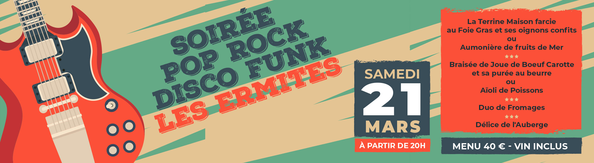 Les Ermites - Soirée Pop Rock Disco Funk